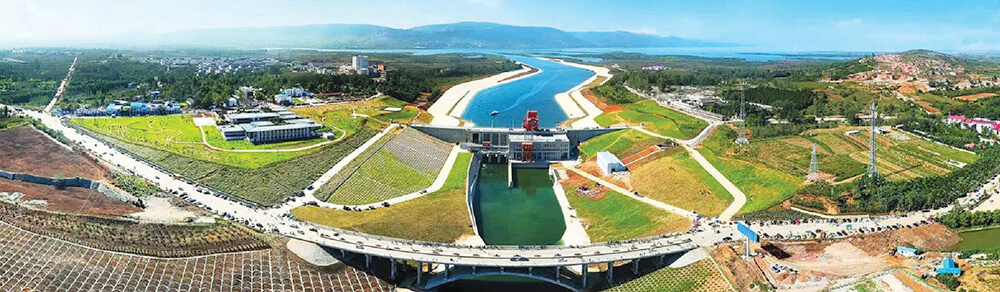 The South-North water transfer project is designed to alleviate water shortages in Northern China