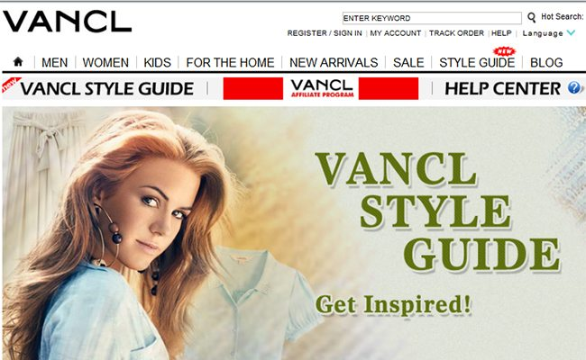 E-Commerce Retailer VANCL's English language website is tailored to western customer's tastes. Will this be enough to make it in international markets? (Source: en.VANCL.com)